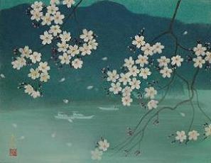湖畔の春(日本画家/高橋天山先生)
