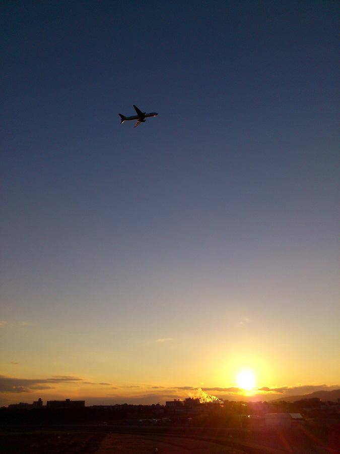 イベント後の静かな夕空(JAL B767-346 / JAL126)@エアフロントオアシス下河原