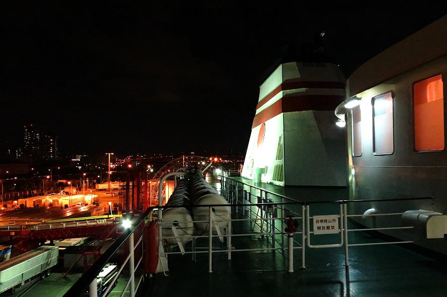 阪九フェリー甲板にて・出航前@神戸フェリーターミナル(フェリーせっつ)