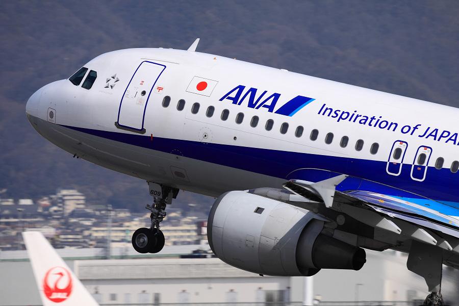 ANA A320-211 / ANA543 (JA8609)@伊丹スカイパーク