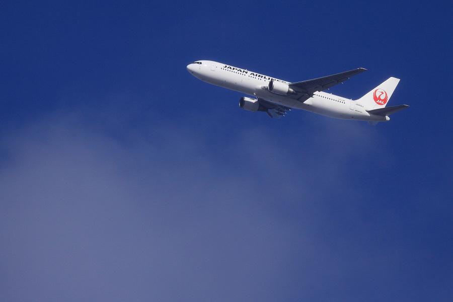 JAL B767-346ER / JAL3002 (JA602J)@自宅前