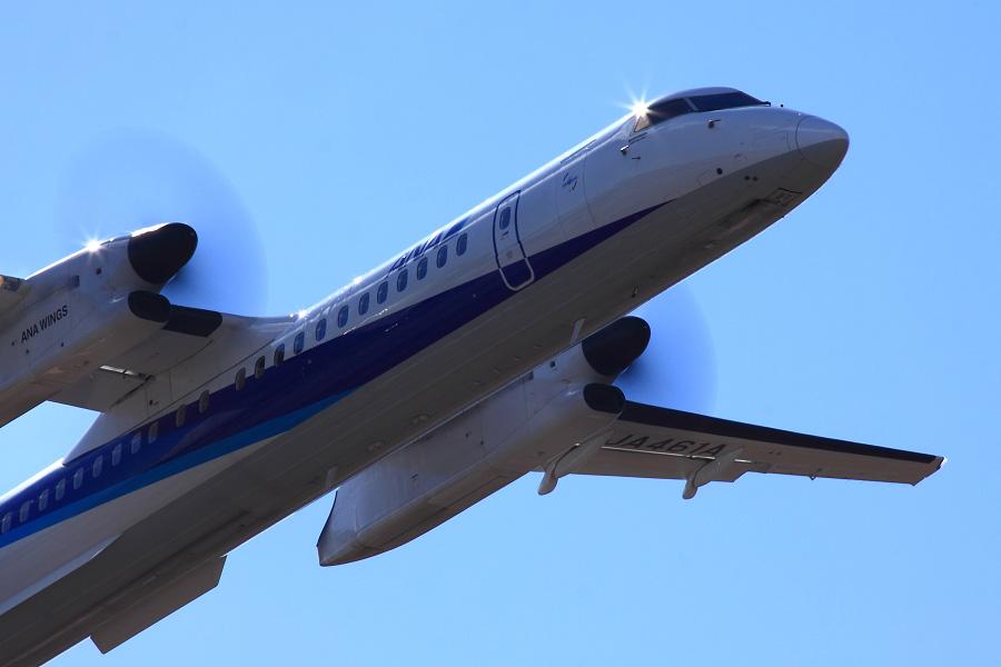 ANA Wings DHC-8-402Q / ANA1687 (JA461A)@下河原緑地展望デッキ