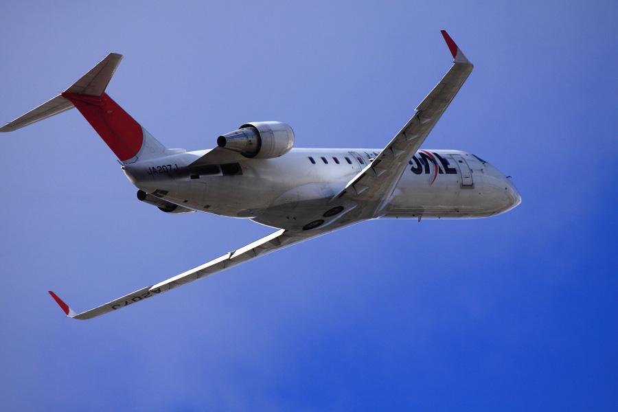 J-AIR CRJ-200ER / JAL2385 (JA207J)@下河原緑地展望デッキ