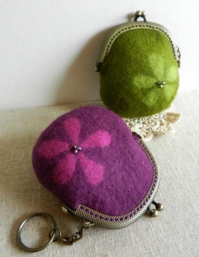 がま口紫&緑