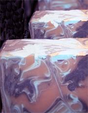 抽象的 白百合マーブル