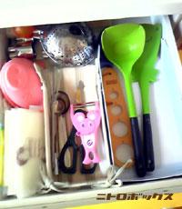 キッチンツールをしまう引き出しです。