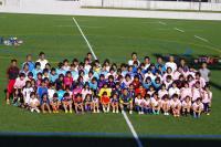 佐々木監督と小中学生集合写真