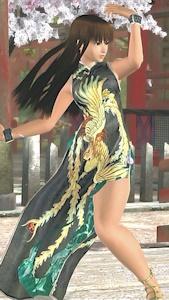 黒のチャイナドレスで戦うレイファン