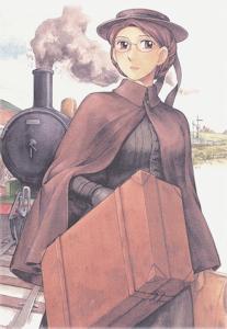 旅姿のエマ
