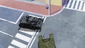 零距離射撃に持ち込むⅣ号戦車