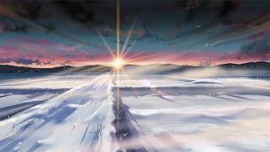 雪野原の夜明け