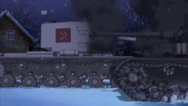 KV2を撃破してフラッグ車を追う