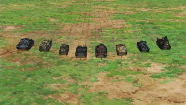 8台まで増えた大洗女子の戦車隊