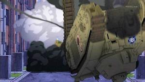 撃破されるルノーB1bis