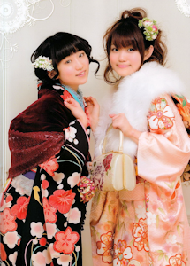 成人式写真(悠木碧と一緒)