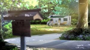 紗羽のお寺にキャンピングカーを駐車