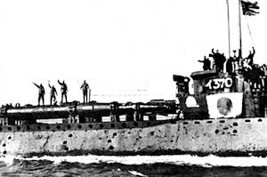 回天を搭載したイ370潜水艦