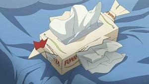ティッシュの箱でニワトリを