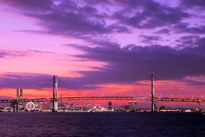 横浜の夕暮れ