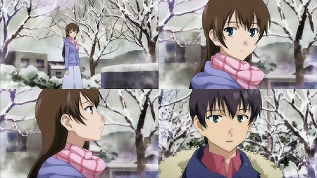 いつも雪の中で出会う純と比呂美