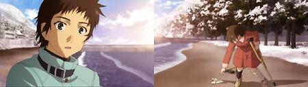 海岸にやってきた乃絵