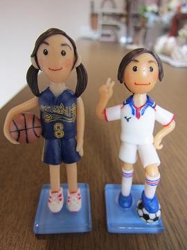 バスケサッカー姉弟