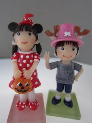 姉弟人形。