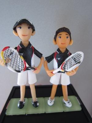テニスペア人形2