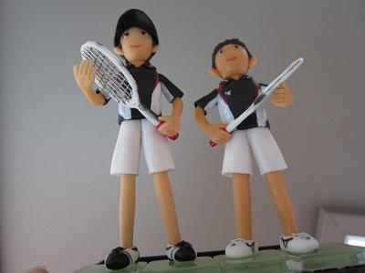 テニスペア人形4