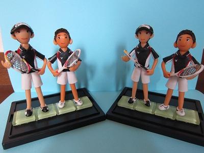 テニスペア人形5