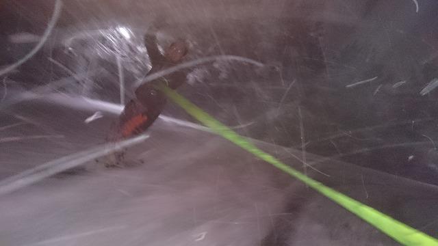 今シーズン初滑り@車庫
