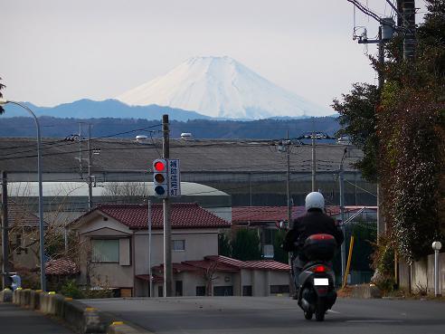 ぽかぽか保育園の近くから見た富士山@飯能市