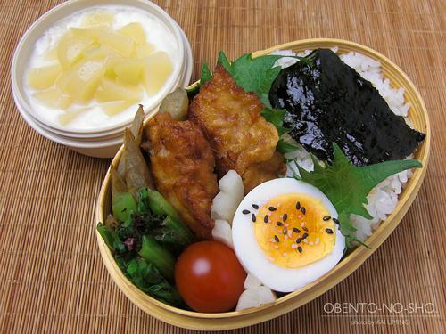 鶏ごぼうの白味噌唐揚げ弁当01