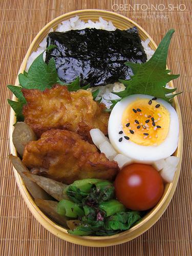 鶏ごぼうの白味噌唐揚げ弁当02