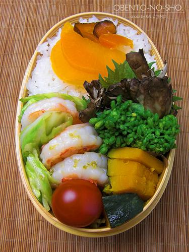 春キャベツと海老の柚子胡椒炒め弁当02