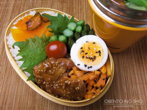 鶏の胡麻味噌焼き弁当01