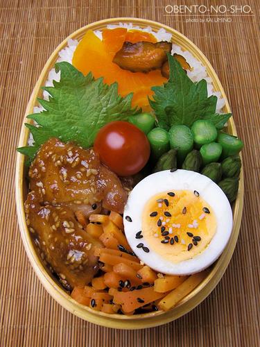 鶏の胡麻味噌焼き弁当04