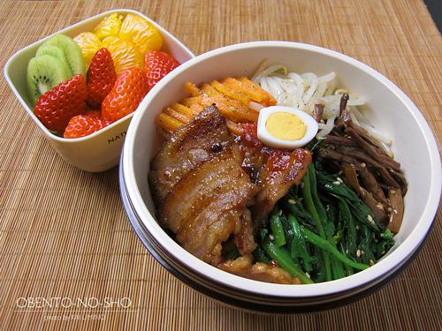 豚バラ肉のビビンバ弁当01