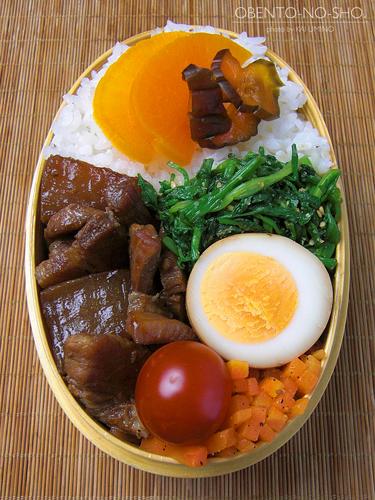 大根と豚肉の黒糖煮弁当06