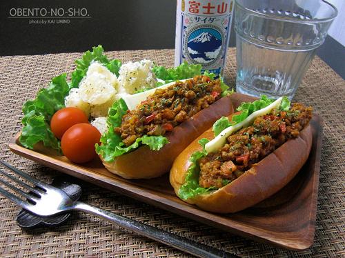 キーマカレードッグ&富士山サイダーのおウチご飯