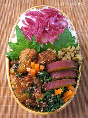 鶏の甘酢ネギソース弁当02