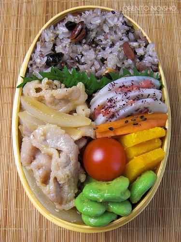 塩麹生姜焼き弁当03