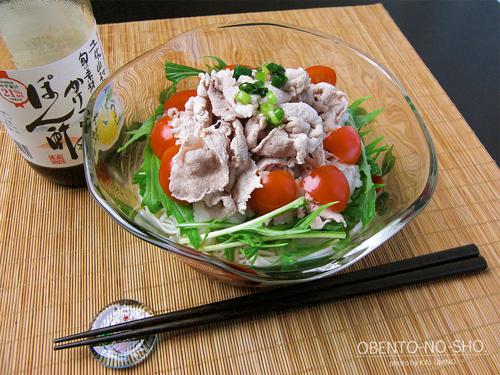 冷しゃぶサラダ素麺のおウチご飯