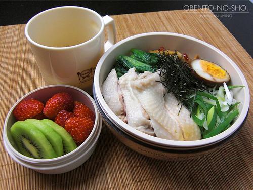 炊飯器鶏の油そば弁当01