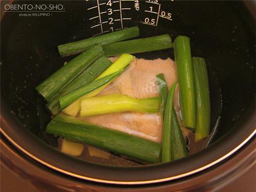 炊飯器鶏の油そば弁当02