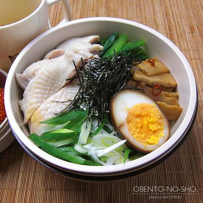 炊飯器鶏の油そば弁当03