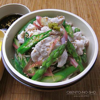 夏野菜と豚しゃぶのサラダうどん弁当02