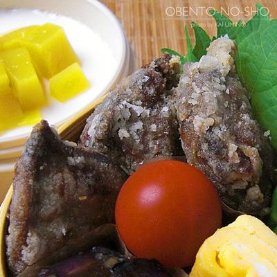 鶏レバーのカレー風味揚げ弁当02