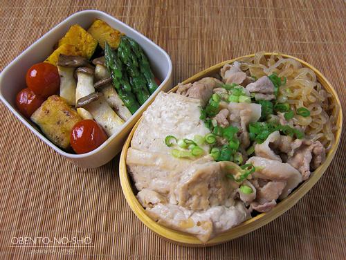 肉豆腐と焼き野菜弁当01