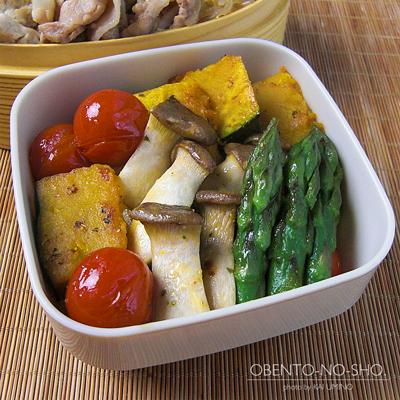肉豆腐と焼き野菜弁当02